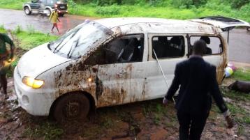 Van was damaged